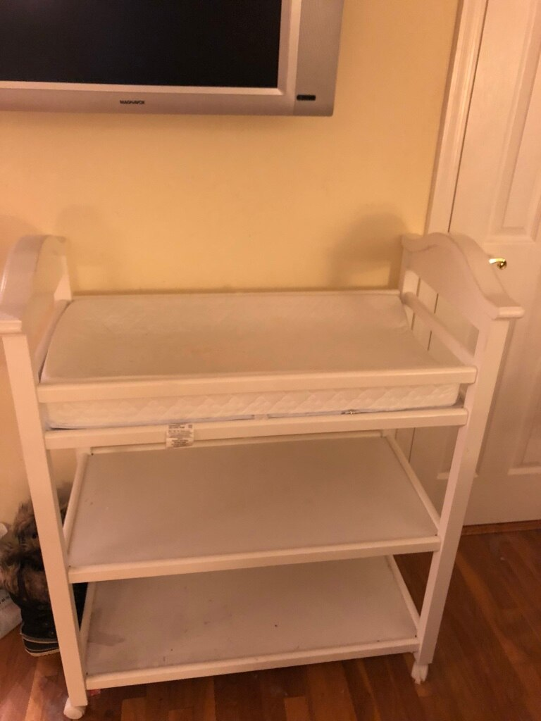 used baby changing table white with pad for sale in huntington letgo rh gb letgo com