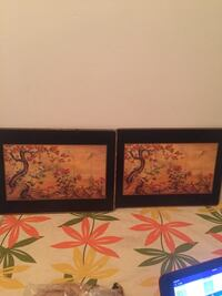 two black wooden framed painting of flowers Montréal, H3W 1W9