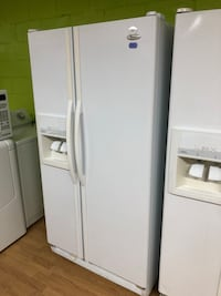 White Whirlpool Side by Side Refrigerator  Woodbridge, 22191