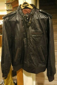 MEMBERS ONLY Mens Leather Jacket CAFE RACER Brown  Johnstown, 80534