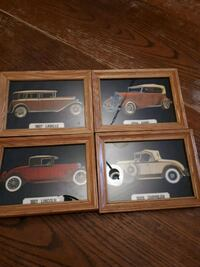 Set of 4 framed car pics  Edmonton, T5S 2B4