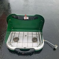 green and white Coleman portable gas stove New Park, 17352