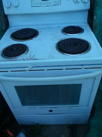 white 4 coil induction range