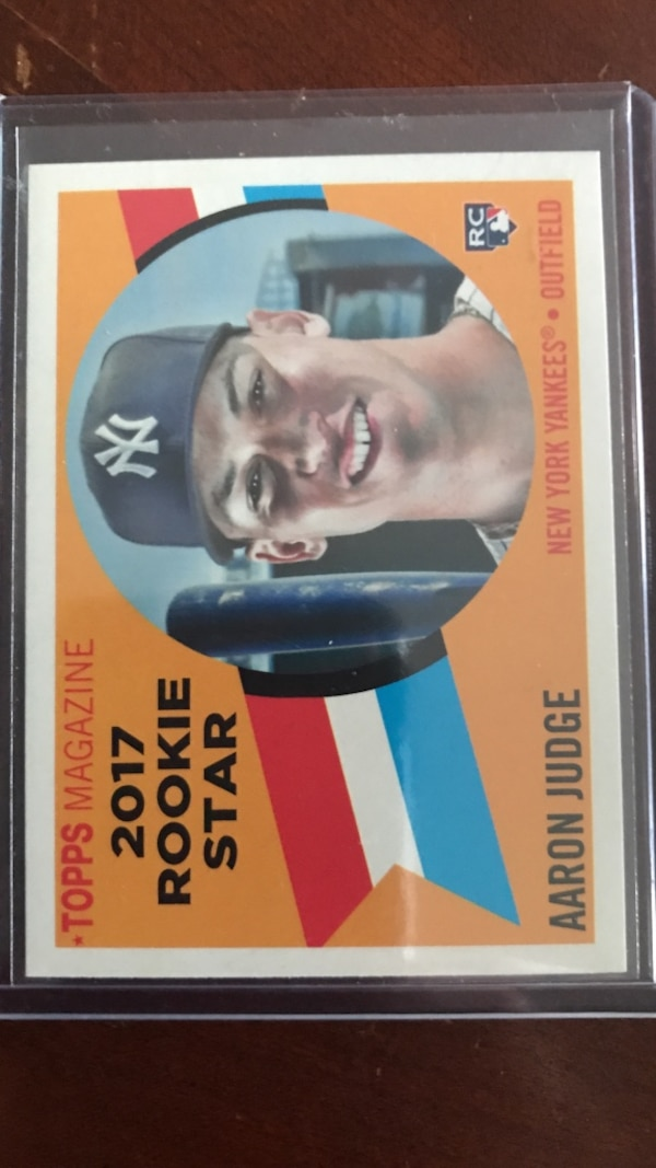 Used 2017 Aaron Judge Topps heritage RC for sale in Richmond