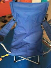 Blue and gray camping chair