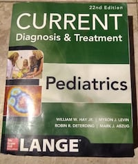 Current diagnosis and treatment pediatrics 22nd edition CHICAGO