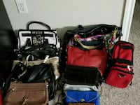 four assorted color leather bags Dallas, 75287