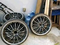 22 inch rims need tires as is I have all four  Hollywood