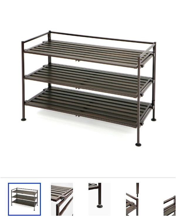 Used 3 tear shoe rack (Bed, Bath & Beyond) for sale in Santa Rosa