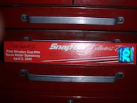 red and black Snap-On tool cabinet PORTPERRY