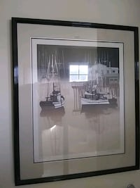 Framed picture of sail boats