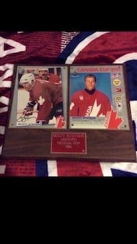 Scott Stevens signed 1991 Canada cup plaque