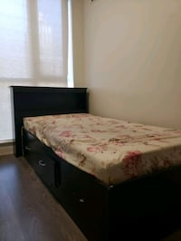 Twin size bed with mattress