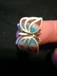 silver and blue gemstone ring Albuquerque, 87107