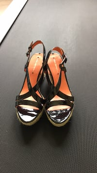 Via Spiga Black patent leather wedge
