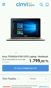 Asus Transform Notebook Laptop İstiklal Mahallesi, 26010