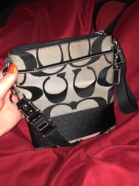 Black and gray coach leather crossbody bag Huber Heights, 45424