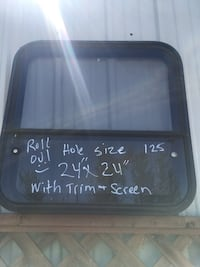 Nice rollout window for Custom Trailer Tiny House Cargo Trailer enclosed trailer 24 x 24 complete
