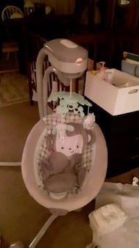 baby's white and gray cradle and swing Silver Spring, 20906