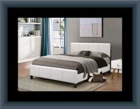White platform bed with mattress and box Capitol Heights, 20743