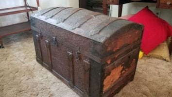 Antique dome steamer trunk