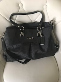 black leather 2-way bag Yukon