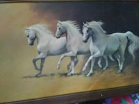 white and black horse painting Alameda, 94501