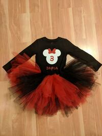 black and red Minnie Mouse long-sleeved tutu dress Fort Belvoir, 22060