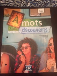 French as a second language work book. Not used very much at all. Montréal, H2C 1N8