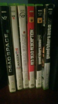 assorted Xbox 360 game cases Los Angeles