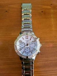 round silver chronograph watch with silver link br Tavares, 32778