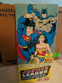 Justice league of America 7 die-cut note cards
