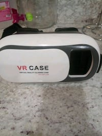 white and black VR box