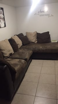 Brown and beige sectional couch New York, 11208