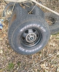 black 5-spoke car wheel with tire set Middlesex County, 06480