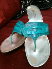 pair of teal leather sandals Colton, 92324