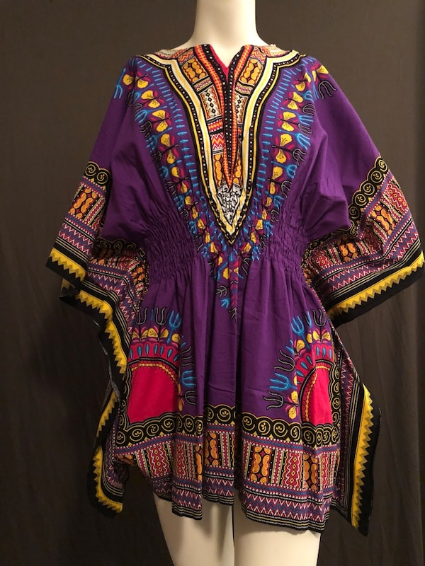 b6ef46b3a28 Used Women s purple and yellow traditional dashiki dress for sale in Sandy  Springs - letgo