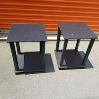 2 Black Tables $20 Charlotte, 28216