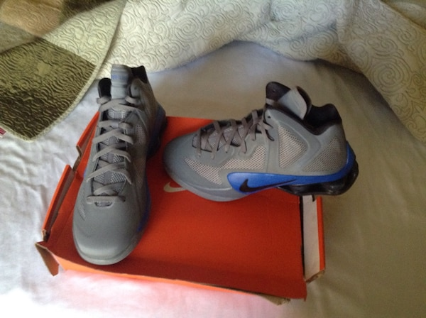 03ec168d3a7c Used gray blue and black nike basketball shoes for sale in Athens - letgo