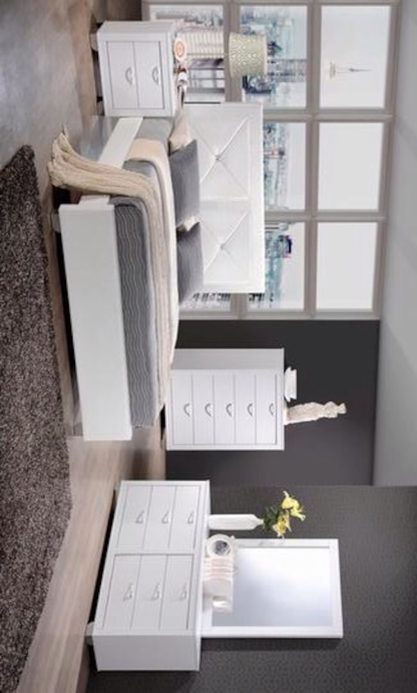 Brahma White Panel Bedroom Set (Queen and king size Bedroom set-Queen and  king mattress & box spring available)