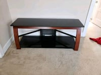 Black glass entertainment center