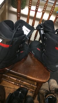 Pair of black leather boots brand new just trying to sell used them once still perfect condition size 9 Trent Hills, K0L 1L0