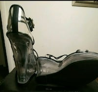 Size 7 New Black and Clear Wedge Bessemer