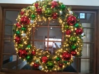 green and red Christmas wreath Chesapeake