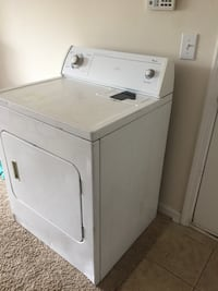 Whirlpool dryer works fine. Recently upgraded. You will need to buy power cord for it. Greensboro, 27407
