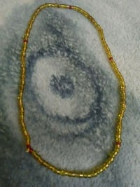 yellow and gold beaded necklace Palmdale