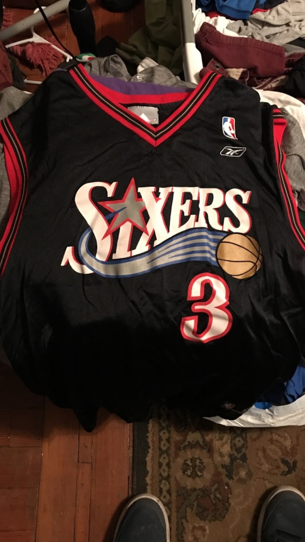 new concept fc383 f0f9d Allen Iverson Jersey Sixers
