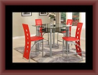 Red counter height table with 4 chairs Capitol Heights, 20743