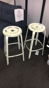 two white wooden bar stools Alexandria, 22312