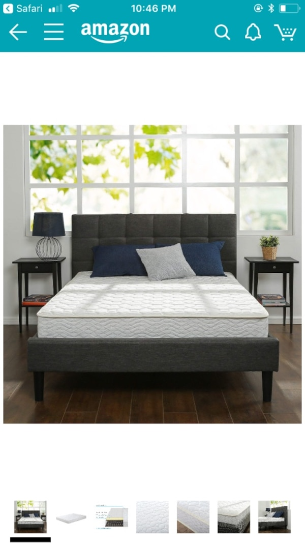 Foam and spring mattress size FULL